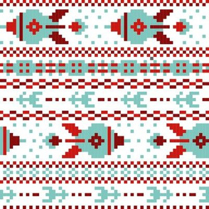 fair isle rockets blue red white