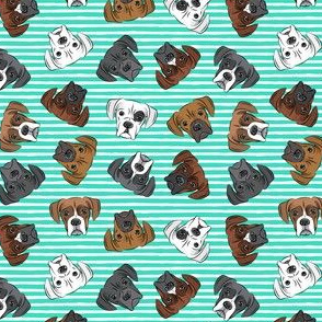 "(3/4"" scale) all the boxers - teal stripes C18BS"