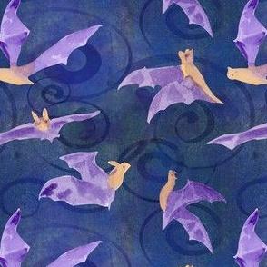 watercolor bats