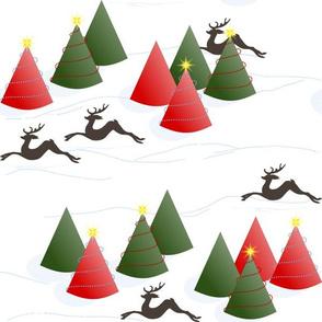 Dashing Through the Snow: White Christmas Scene