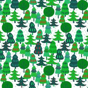 Tree Whimsy Green