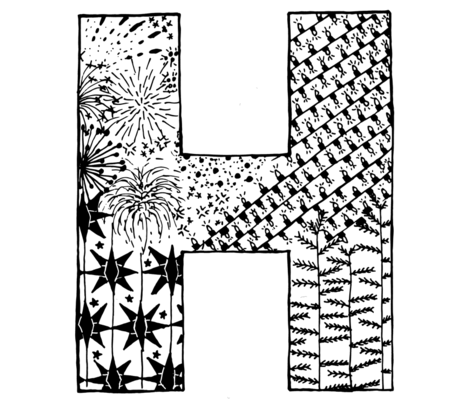 H for Happy Holidays fabric by berries&dew_design on Spoonflower - custom fabric