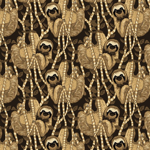 sloth cloth sepia
