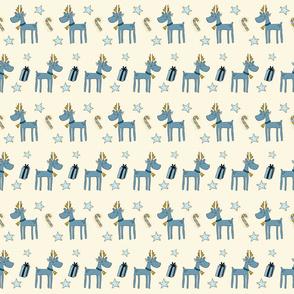 Baby Reindeer And Stars On Cream