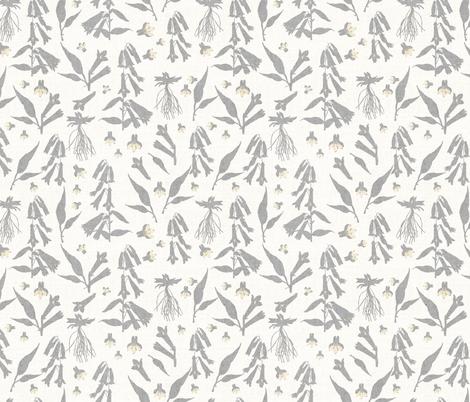 NORTH FLORA NIGHT fabric by holli_zollinger on Spoonflower - custom fabric