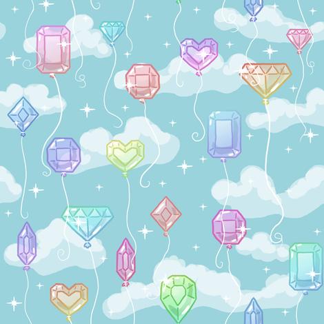 Gemstone Balloons fabric by amber_morgan on Spoonflower - custom fabric