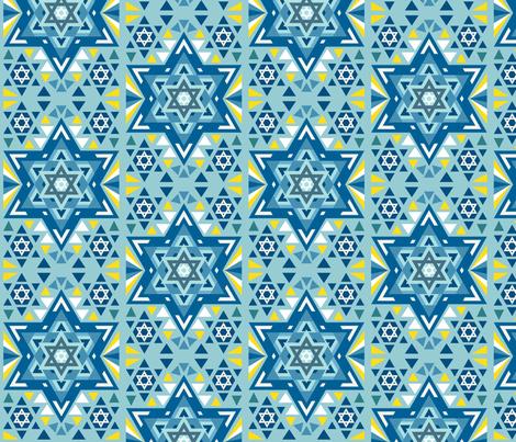 Star of David fabric by mintparcel on Spoonflower - custom fabric