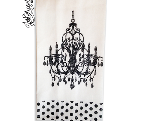 JBalyeat Chandelier Tea Towel