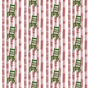 Rocking Chair Peppermint Stripe | Retro Festive