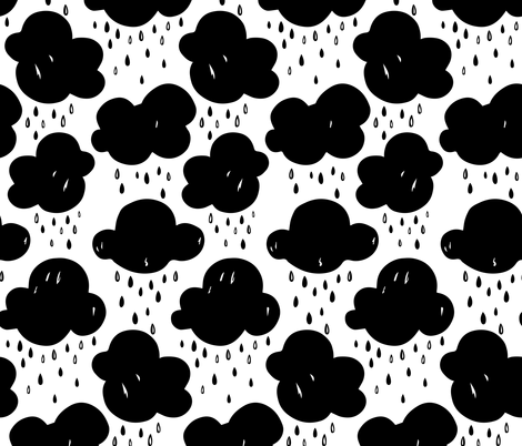Rainy Day fabric by charladraws on Spoonflower - custom fabric