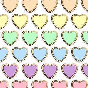 heart sugar cookies - valentines - rainbow