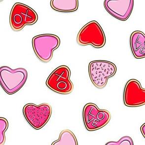 heart sugar cookies - valentines - toss