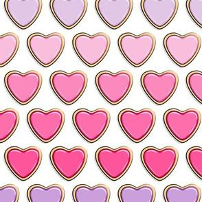 heart sugar cookies - valentines - gradient