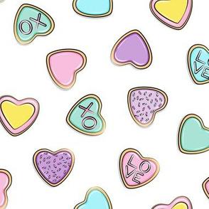 heart sugar cookies - valentines - pastel toss