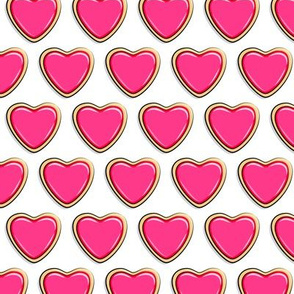 heart sugar cookies - valentines - pink