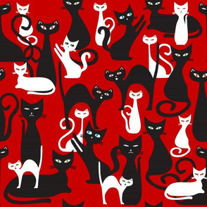 Cats on Red (2018)