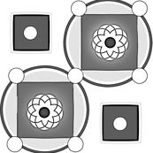 Tumbling Textures/ Gray & White