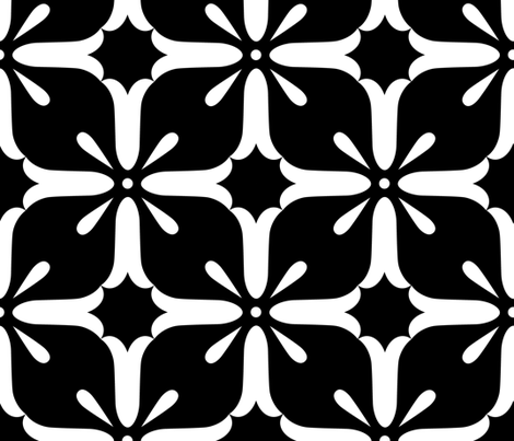 Starburst Flower fabric by jackalina on Spoonflower - custom fabric