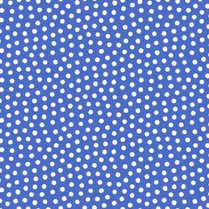 French Blue White Spots 6x6