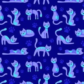 Kitty Cats Blue