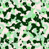 Forest Green Mint Green White Color Basic Army Military Camo Camouflage Pattern
