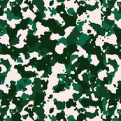 Forest Green White Color Basic Army Military Camo Camouflage Pattern