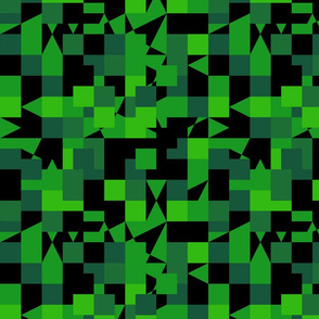 Green Black Color Pixel Army Camo Camouflage Pattern