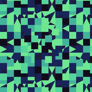 Green Blue Color Pixel Army Camo Camouflage Pattern