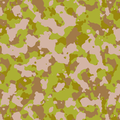 Light Green Brown Color Desert Basic Army Military Camo Camouflage Pattern