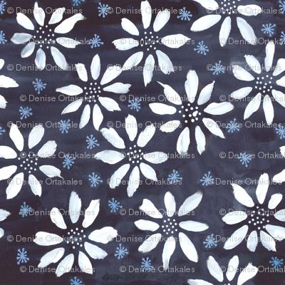 Indigo Flowers & Flakes