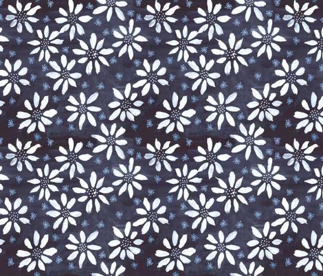 Indigo Flowers & Flakes fabric by denise_ortakales on Spoonflower - custom fabric