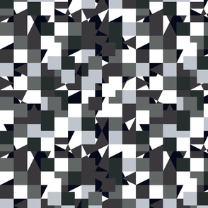 White Brown Gray Grey Color Pixel Army Camo Camouflage Pattern