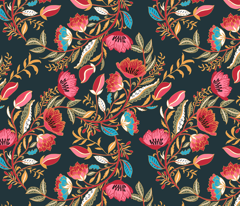 Indian Nights fabric by jill_o_connor on Spoonflower - custom fabric