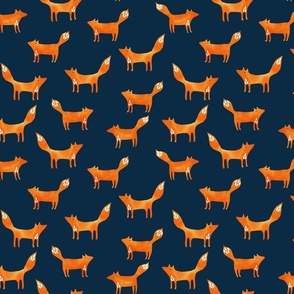 foxes on ink