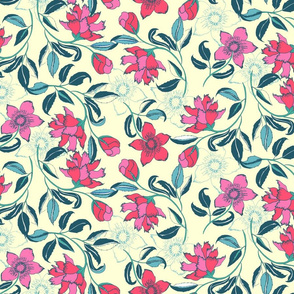 Swirled Indian Floral