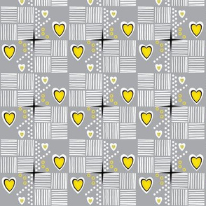 Lay it out / Stitch it Up - yellow/grey