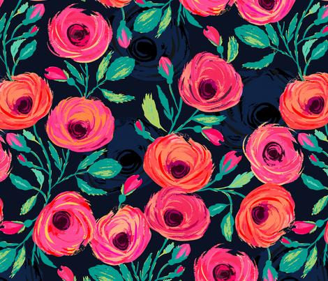 Rose Garden fabric by jill_o_connor on Spoonflower - custom fabric