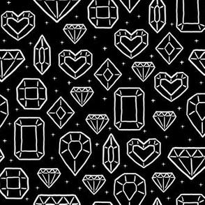 Sketched Jewels in Black