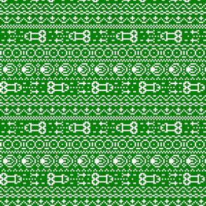fair isle NSFW green