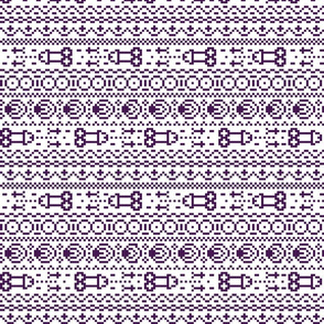 fair isle NSFW purple and white