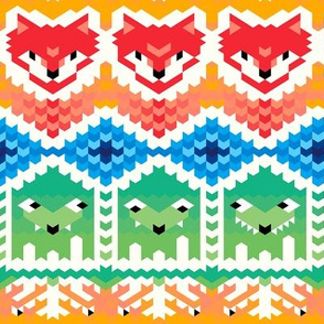 Fair Isle Foxes and Monsters