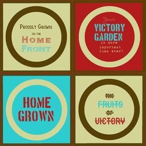 Mason Jar Toppers: Victory Garden Edition