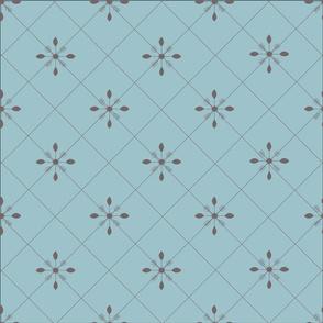 Soft Blues Grid