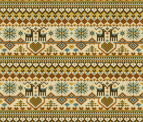 fairisleorange fabric by gaiamarfurt on Spoonflower - custom fabric