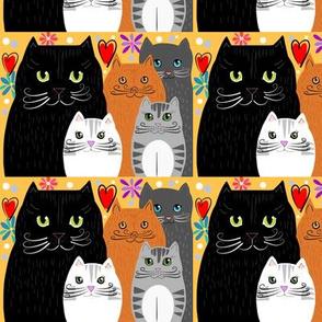 Happy Cat Family