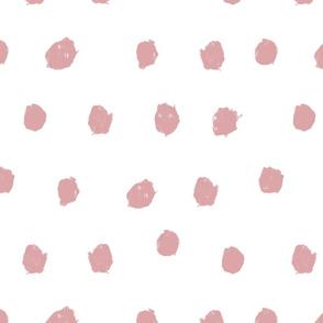 blush scribble dots