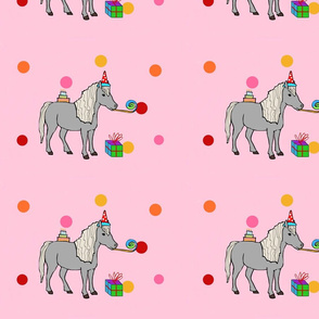 Mini horse pink party!