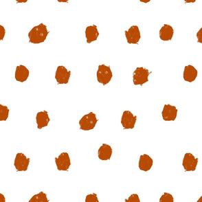 Terracotta scribble dots
