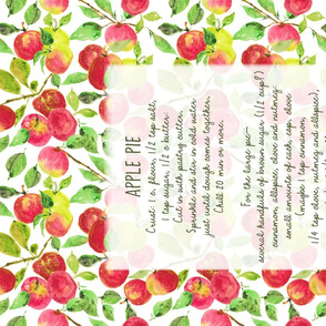 tea towel applewleaves29x18