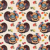 turkey day beige 8x8
